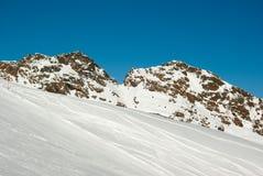 piste滑雪 免版税库存照片
