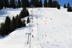 Piste лыжи в Австрии стоковые фотографии rf