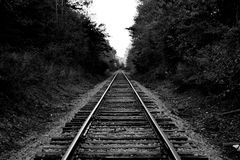 Piste abbandonate del treno Immagine Stock Libera da Diritti