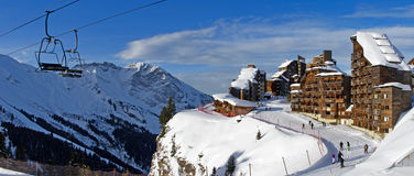 Piste alpine de ski Photo stock