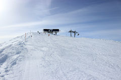 Piste in Alps, Zillertal in Austria Royalty Free Stock Images