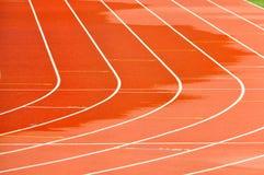 Piste courante d'athlétisme Photos libres de droits