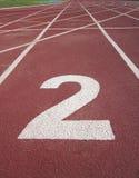 Piste courante d'athlétisme Images libres de droits