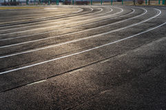 Piste courante de stade Photo stock