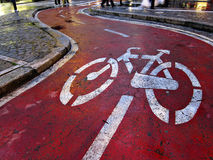 Piste cyclable photos stock