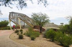 Piste cyclable d'aviation et pont de serpent à sonnettes, Tucson, Arizona photographie stock
