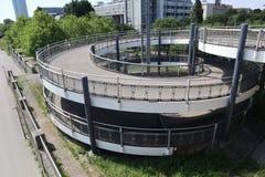 Piste cyclable en spirale photo libre de droits