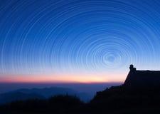 Piste d'étoile Photo libre de droits