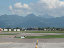Piste d'aéroport de Bergame Orio Al Serio Photo stock