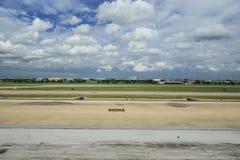 Piste d'aéroport de Donmuang Image libre de droits