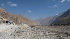 Piste d'aéroport de Jomosom, Népal Image libre de droits