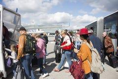 Piste d'aéroport international de Kiev Boryspil à Kiev, Ukraine Photo libre de droits