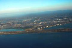 Piste d'aéroport sur Oahu Hawaï Images stock