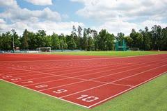 Piste d'athlétisme Photographie stock