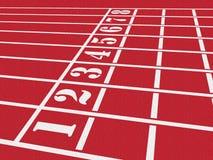 Piste d'athlétisme Photos stock