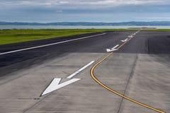 Piste d'atterrissage d'aéroport d'Aucland Photo stock