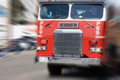 Piste d'incendie dans l'action. Photo stock