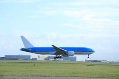 Piste de approche d'avion Images libres de droits