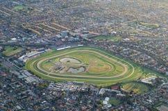 Piste de Caulfield dans la vue aérienne de Melbourne Image libre de droits