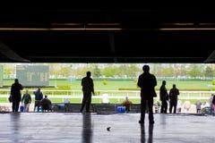 Piste de chemin de Belmont Park 2011 image stock
