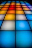 Piste de danse de disco avec l'éclairage coloré Images stock