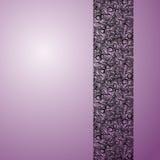 Piste de dentelle sur le fond violet Image stock