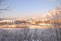 Piste de l'hiver sur la promenade Photos libres de droits