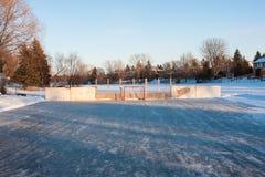 Piste de patinage d'arrière-cour Photos stock