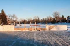 Piste de patinage d'arrière-cour Photographie stock libre de droits