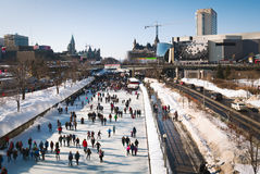 Piste de patinage d'Ottawa Photos stock
