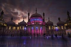 Piste de patinage de glace au pavillon royal, Brighton Photos stock