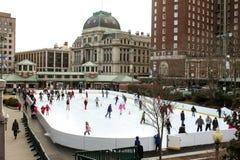 Piste de patinage de la Banque d'Amérique, Providence, RI Photos stock
