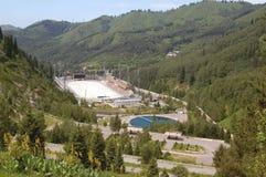 Piste de patinage Medeo à Almaty Image stock