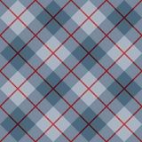 Piste de Pattern_Blue-Red de plaid de 45 degrés Illustration Stock