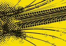 Piste de pneu de véhicule Photo libre de droits