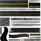 Piste de pneu et ramassage de route illustration libre de droits