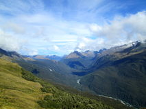 Piste de Routeburn, Nouvelle Zélande Photo stock