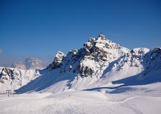 Piste de ski dans l'arabba photographie stock libre de droits