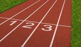 Piste de sport de concurrence Images libres de droits