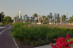 Piste de vue de parc de Bidda et cyclable images stock