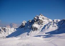 Piste del esquí en arabba Fotografía de archivo libre de regalías
