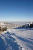 Piste del esquí en el MNT de Skrzyczne Fotos de archivo