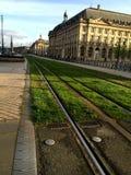 Piste del tram in Bordeaux Fotografia Stock Libera da Diritti