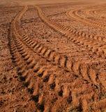 Piste del trattore Fotografie Stock Libere da Diritti