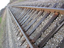 Piste del treno Immagini Stock
