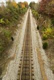 Piste del treno all'infinito Fotografie Stock