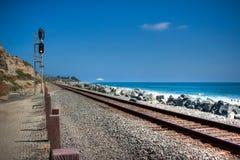 Piste del treno del San Clemente fotografia stock libera da diritti