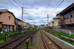 Piste del treno di Stell Fotografia Stock