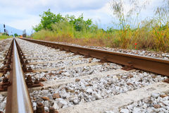 Piste del treno nella prospettiva Fotografia Stock Libera da Diritti