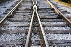 Piste del treno in Sun di mattina Fotografia Stock